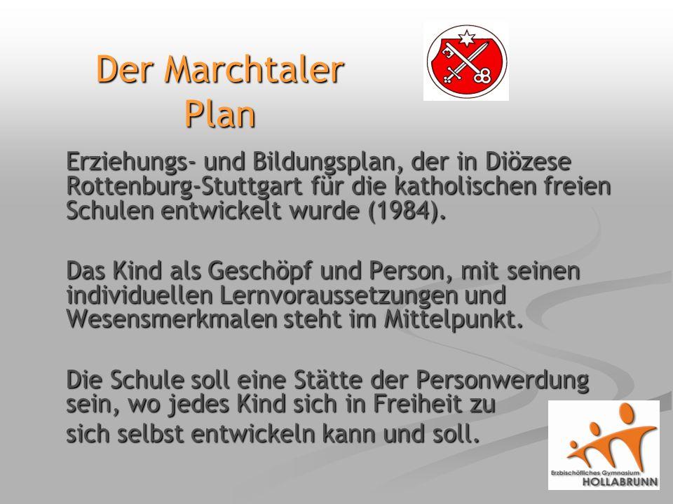 Erziehungs- und Bildungsplan, der in Diözese Rottenburg-Stuttgart für die katholischen freien Schulen entwickelt wurde (1984).