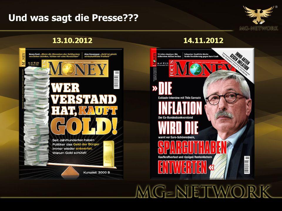 Und was sagt die Presse??? 13.10.201214.11.2012