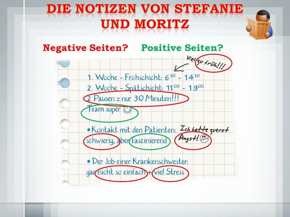 Negative Seiten Positive Seiten