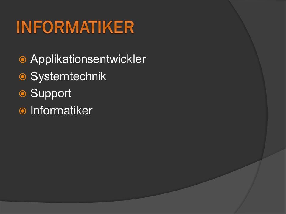 Informatiker mit Schwerpunkt Applikationsentwicklung sind Fachleute im Bereich Softwareentwicklung und arbeiten meistens im Team.