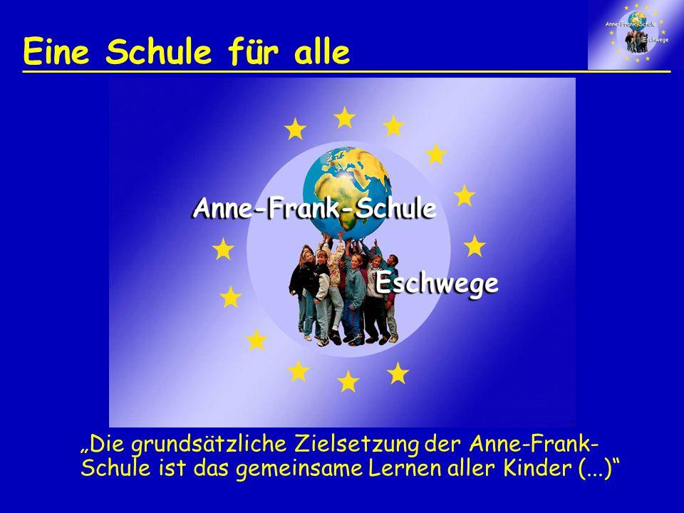 Eine Schule für alle Die grundsätzliche Zielsetzung der Anne-Frank- Schule ist das gemeinsame Lernen aller Kinder (...)