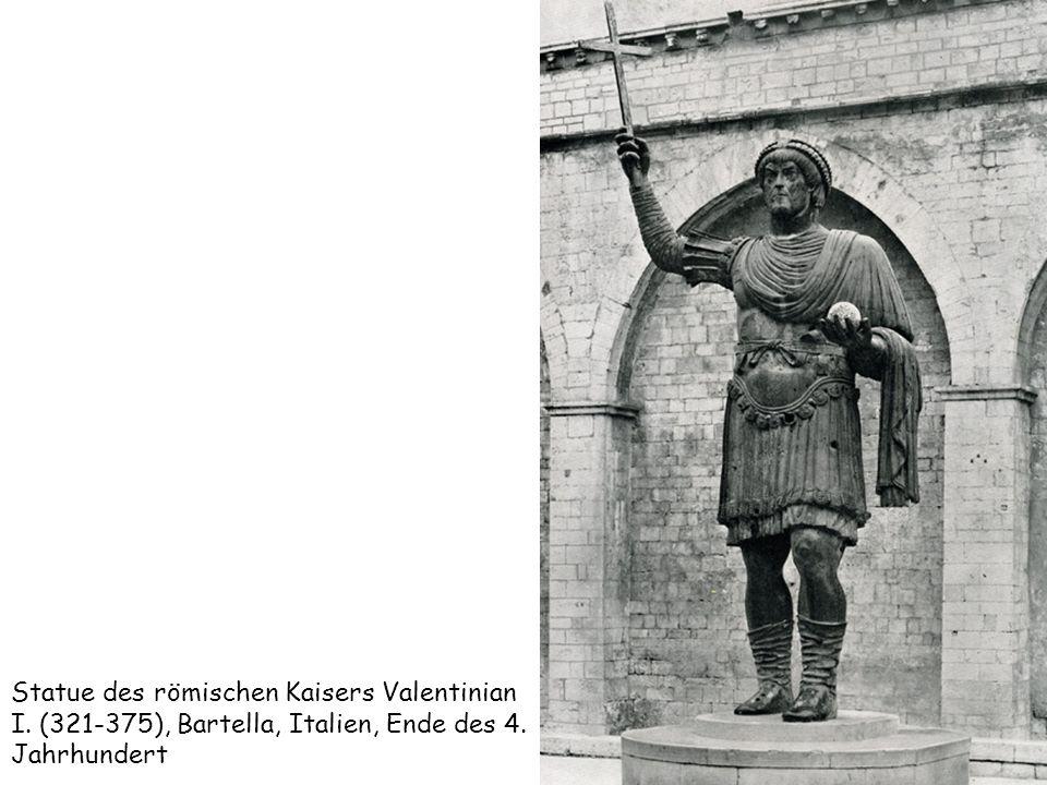Statue des römischen Kaisers Valentinian I. (321-375), Bartella, Italien, Ende des 4. Jahrhundert