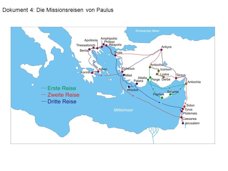 Dokument 4: Die Missionsreisen von Paulus