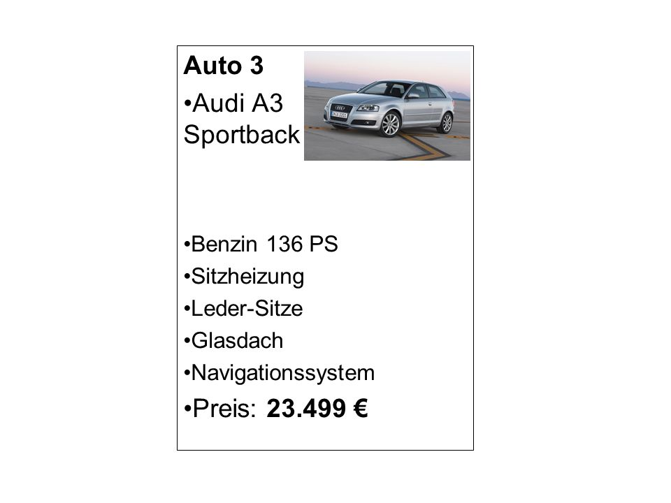 Auto 4 VW Golf Benzin 120 PS Sitzheizung Leder-Sitze Metallic-Lackierung Tempomat Preis: 20.000