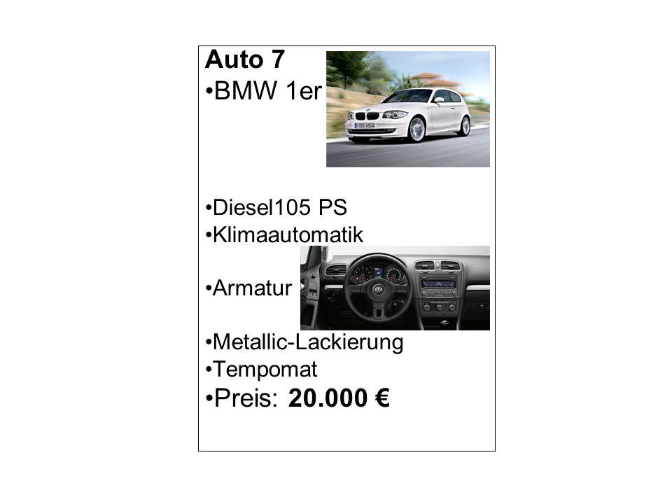 Auto 8 Audi A3 Sportback Diesel 105 PS Klimaautomatik Armatur Metallic-Lackierung Tempomat Preis: 23.499