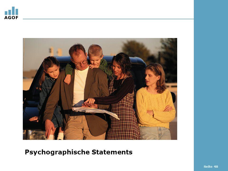Seite 48 Psychographische Statements