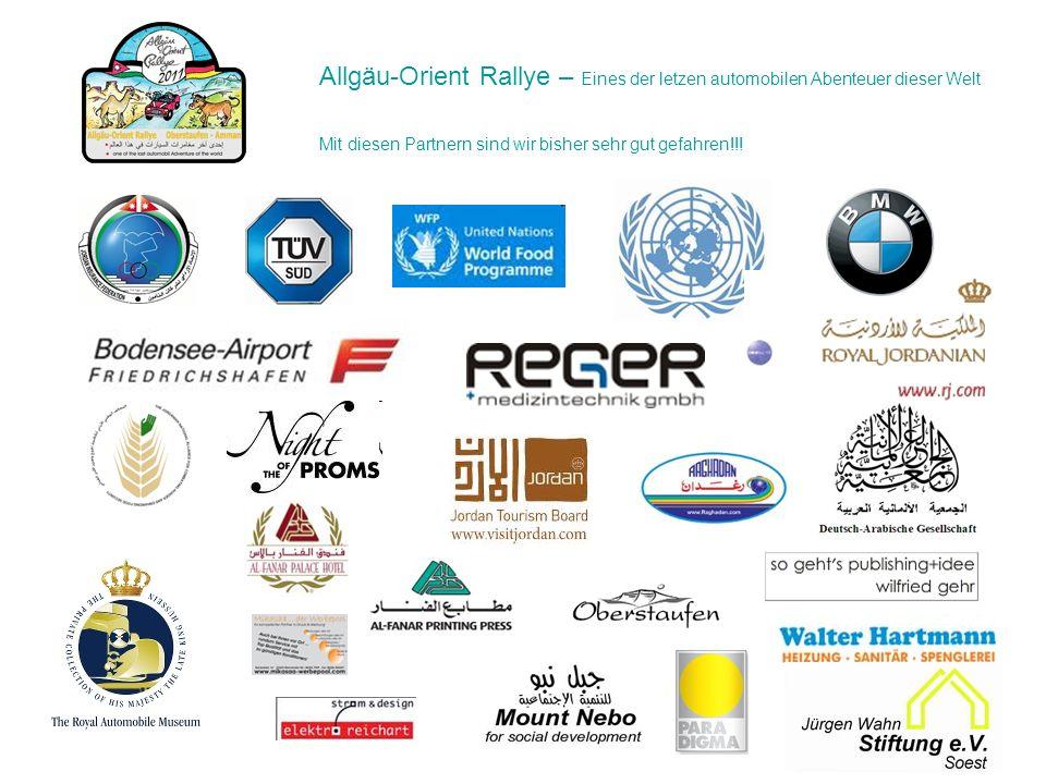Allgäu-Orient Rallye – Eines der letzen automobilen Abenteuer dieser Welt Mit diesen Partnern sind wir bisher sehr gut gefahren!!!