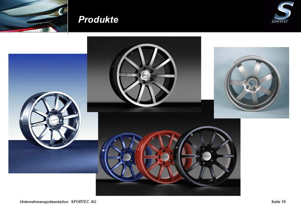 Unternehmenspräsentation SPORTEC AGSeite 19 Produkte
