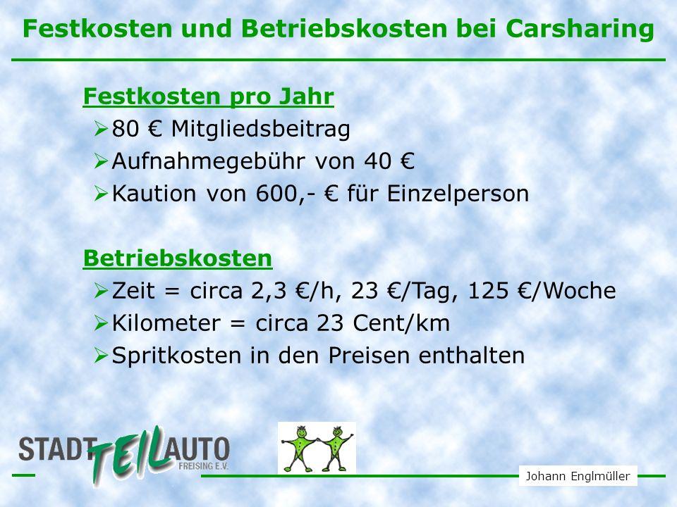 Johann Englmüller Kostenvergleich Wann ist Carsharing für Sie das Richtige.