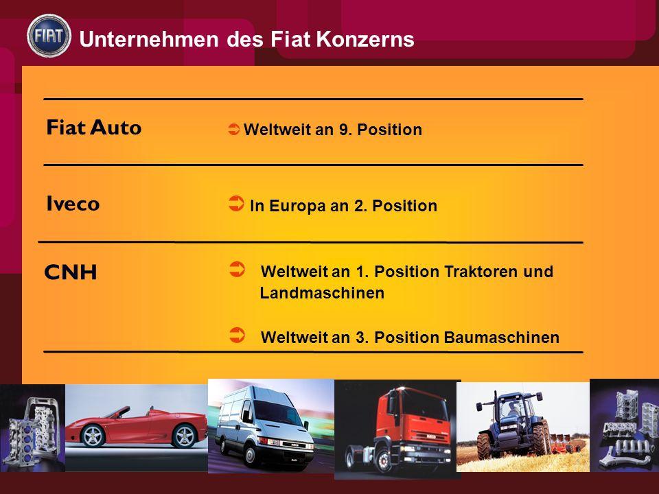 Unternehmen des Fiat Konzerns Fiat Auto Iveco CNH Weltweit an 9.