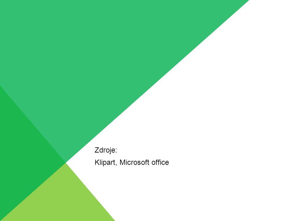 Zdroje: Klipart, Microsoft office