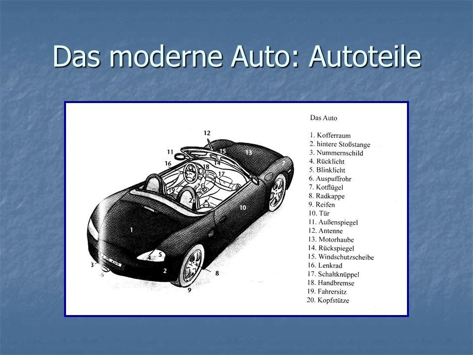 Das moderne Auto: Autoteile