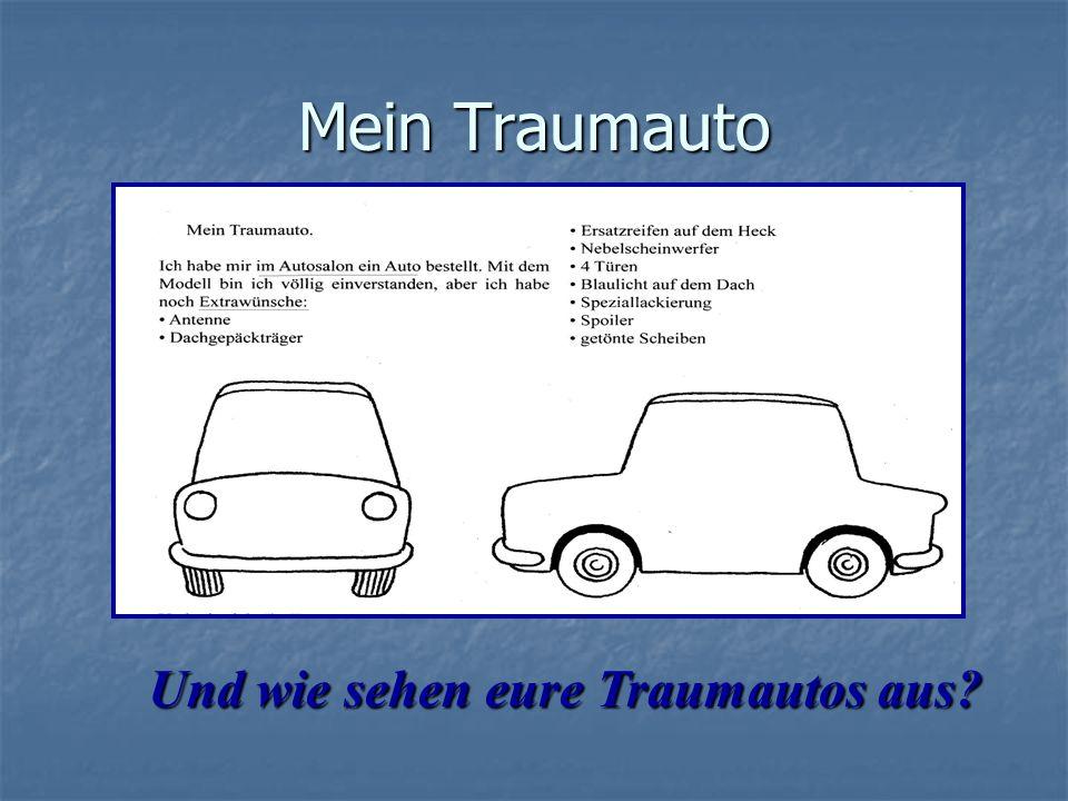 Mein Traumauto Und wie sеhen eure Traumautos aus?