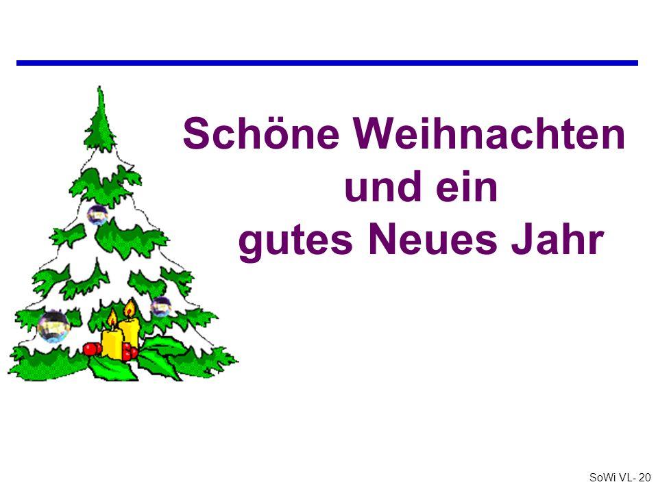 SoWi VL- 20 Schöne Weihnachten und ein gutes Neues Jahr