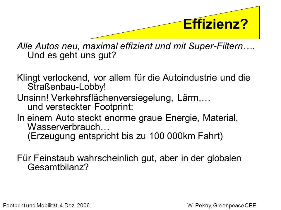 Alle Autos neu, maximal effizient und mit Super-Filtern…. Und es geht uns gut? Klingt verlockend, vor allem für die Autoindustrie und die Straßenbau-L