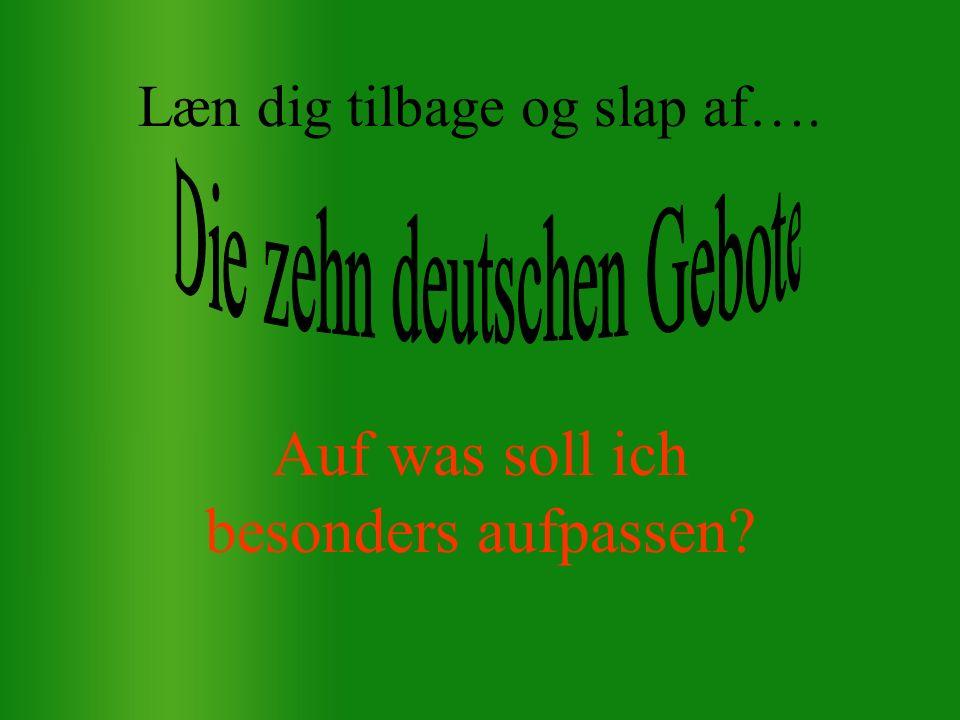 Der er naturligvis – mange grammatiske faldgruber… - men en tysk it-basisgrammatik, som kan køre parallelt med denne danske it-basisgrammatik her, er under stadig udarbejdelse.