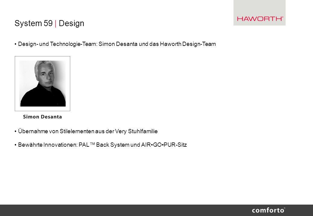 System 59 | Design Design- und Technologie-Team: Simon Desanta und das Haworth Design-Team Übernahme von Stilelementen aus der Very Stuhlfamilie Bewäh