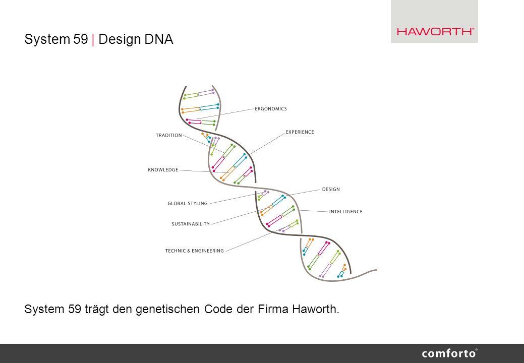 System 59 | Design DNA System 59 trägt den genetischen Code der Firma Haworth.