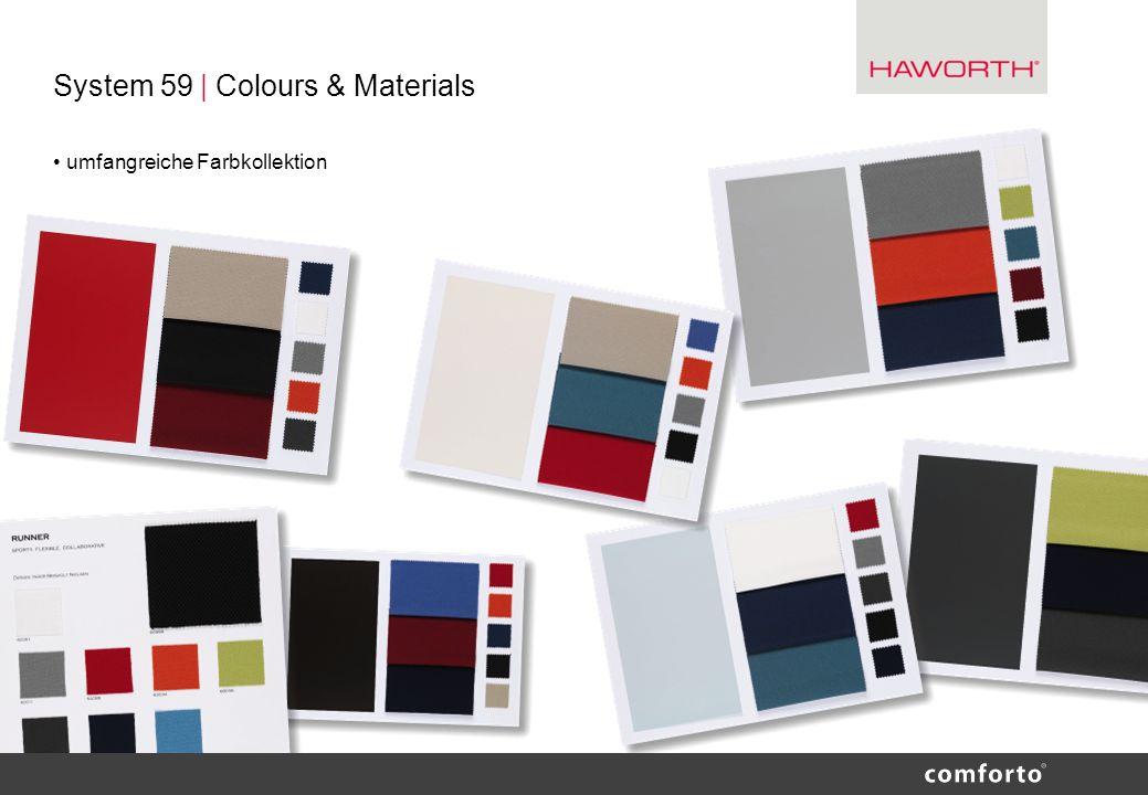 System 59 | Colours & Materials umfangreiche Farbkollektion