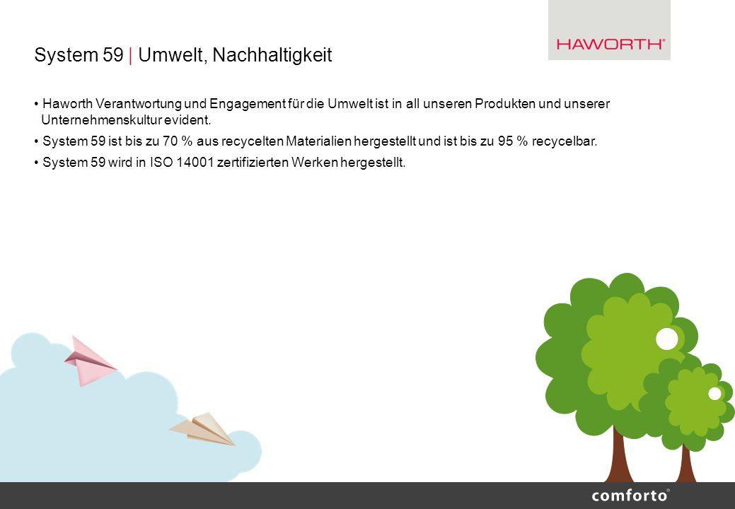 System 59 | Umwelt, Nachhaltigkeit Haworth Verantwortung und Engagement für die Umwelt ist in all unseren Produkten und unserer Unternehmenskultur evi