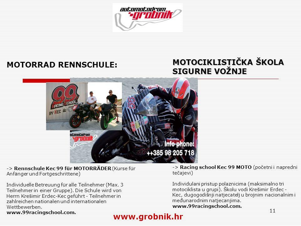 11 MOTORRAD RENNSCHULE: -> Rennschule Kec 99 für MOTORRÄDER (Kurse für Anfänger und Fortgeschrittene) Individuelle Betreuung für alle Teilnehmer (Max.