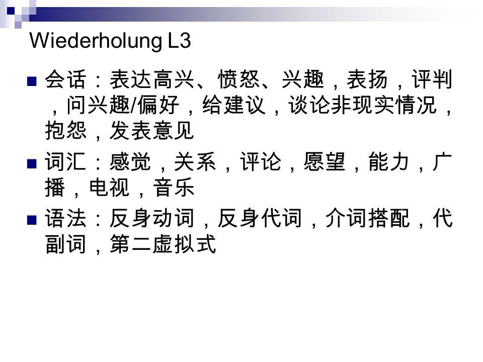 Wiederholung L3 /