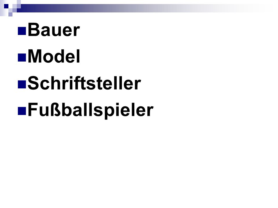 Bauer Model Schriftsteller Fußballspieler