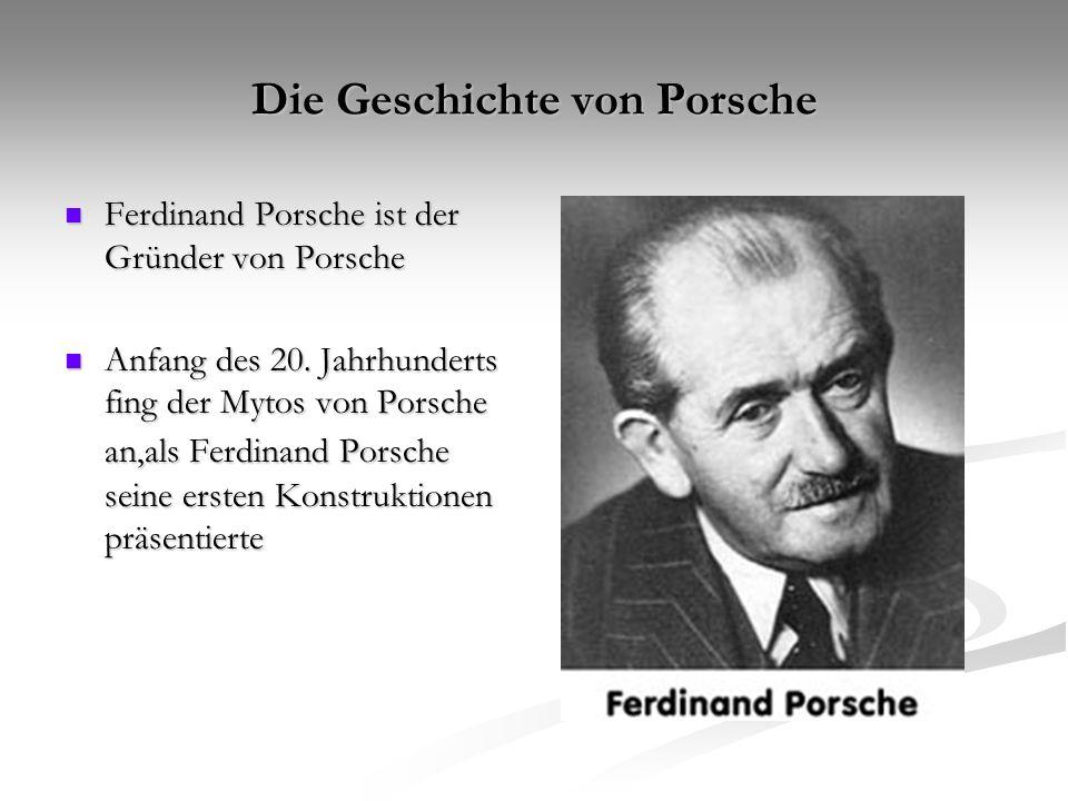 Die frühen Jahre 1900: 1900: Der Lohner-Porsche-Elektrowagen wird auf der Der Lohner-Porsche-Elektrowagen wird auf der Weltausstellung in Paris präsentiert.
