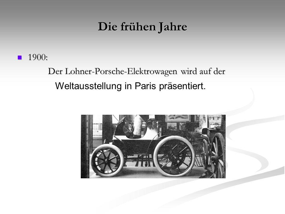 1931: 1931: Ferdinand Porsche gründet das Konstruktionsbüro Porsche in Stuttgart.