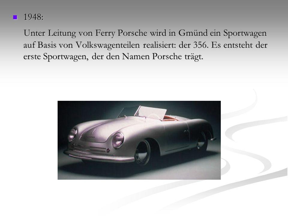Die 50er Jahre 1950: 1950: Porsche kehrt nach Stuttgart zurück,und wird zur eigenständigen Automobilfabrik.
