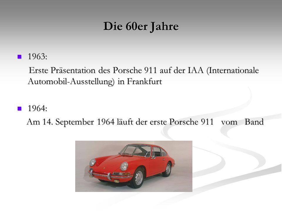 Die 70er Jahre 1970: 1970: Porsche 917 als Siegermodel Porsche 917 als Siegermodel 1972: 1972: Porsche wird zur Aktiengesellschaft Porsche wird zur Aktiengesellschaft