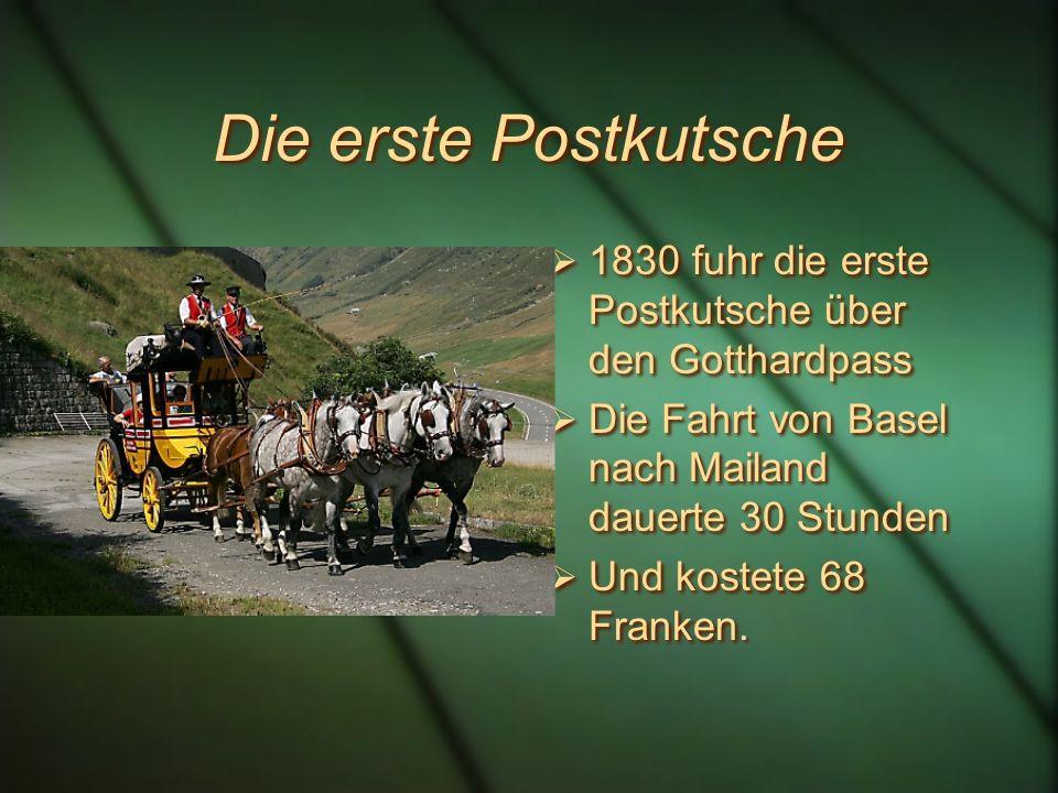 Die Gotthardstrasse 1826 wurde die Strasse ausgebaut. Nun war sie überall mindestens 5,5 -7,5 m breit. 1826 wurde die Strasse ausgebaut. Nun war sie ü
