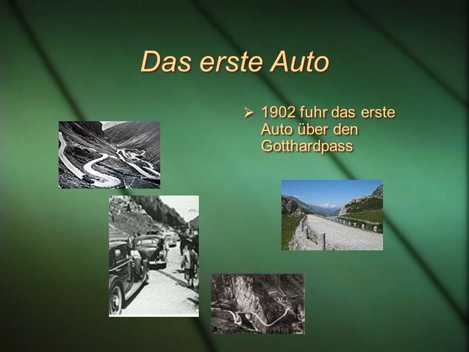 Die erste Postkutsche 1830 fuhr die erste Postkutsche über den Gotthardpass Die Fahrt von Basel nach Mailand dauerte 30 Stunden Und kostete 68 Franken