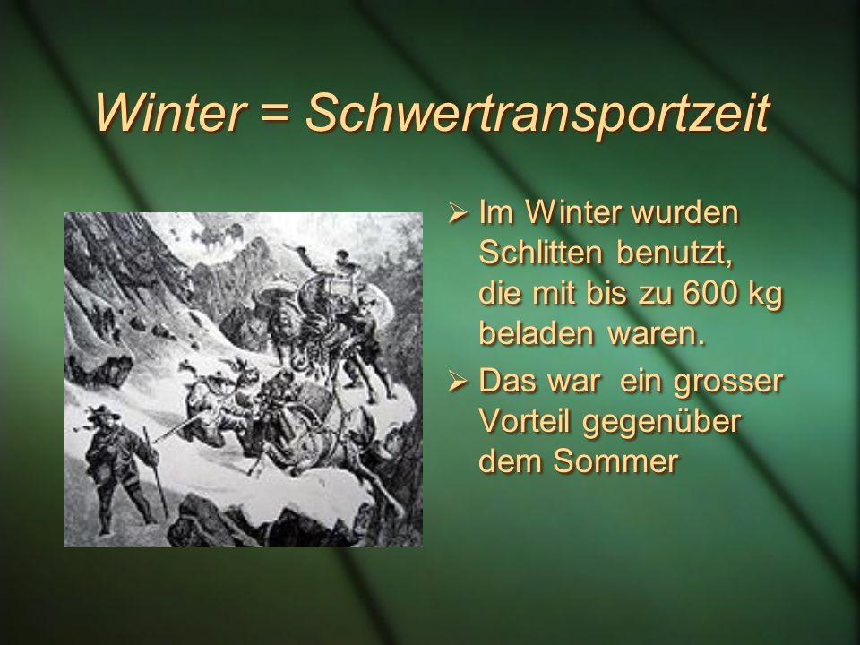 Im 15. Jahrhundert überquerten jährlich ca. 10'000 Personen und 9000 Saumtiere den Pass.
