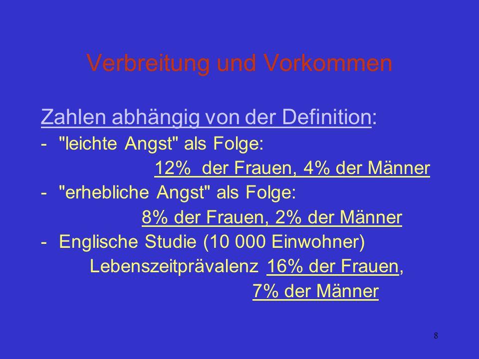 8 Verbreitung und Vorkommen Zahlen abhängig von der Definition: -