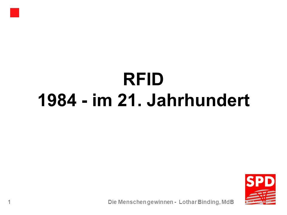 1Die Menschen gewinnen - Lothar Binding, MdB RFID 1984 - im 21. Jahrhundert