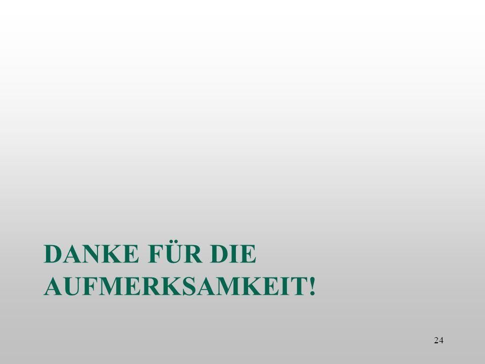 DANKE FÜR DIE AUFMERKSAMKEIT! 24