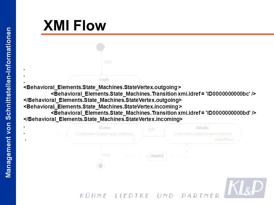 Management von Schnittstellen-Informationen XMI Flow..