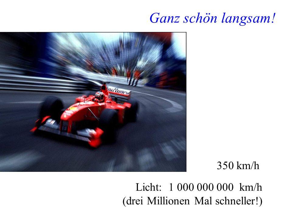 Manfred Jeitler, Institut für Hochenergiephysik Wer ist am schnellsten? 16 Ganz schön langsam! 350 km/h Licht: 1 000 000 000 km/h (drei Millionen Mal