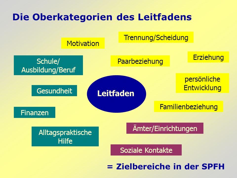 Aufbau des Leitfadens: Beispiel Gibt es Veränderungen in den folgenden Bereichen seit der letzten Einschätzung.