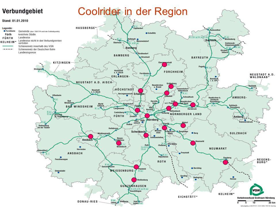 Sicherheit im ÖPNV 13 Coolrider in der Region