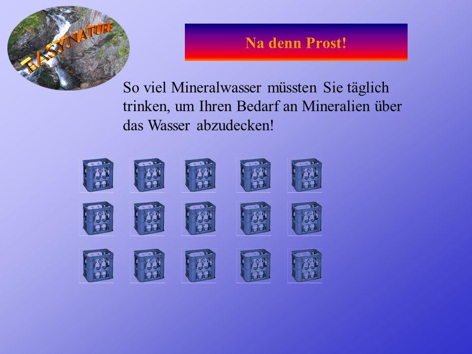 Mineralwasser- Eine Alternative? Arsen Leitungswasser: 10 mcg/Liter Mineralwasser: 50 mcg/Liter Blei Leitungswasser: 25 mcg/Liter Mineralwasser: 50 mc