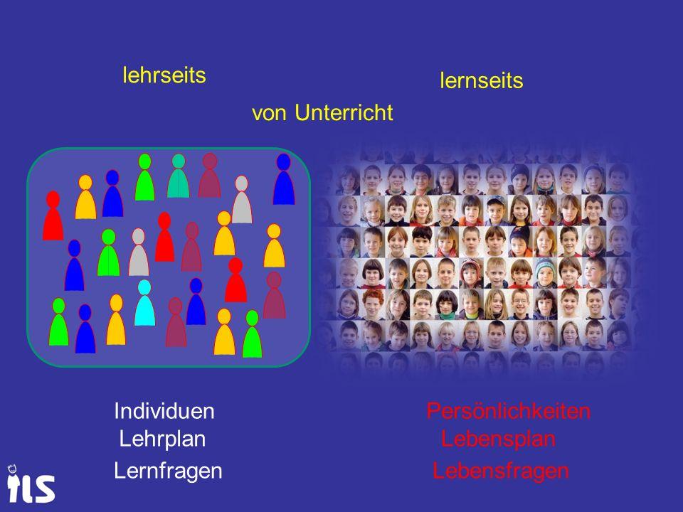 IndividuenPersönlichkeiten LehrplanLebensplan LernfragenLebensfragen lehrseits lernseits von Unterricht