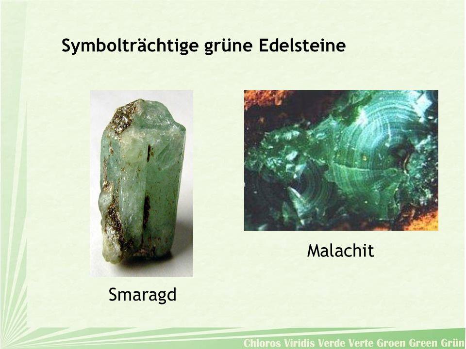 Symbolträchtige grüne Edelsteine Smaragd Malachit