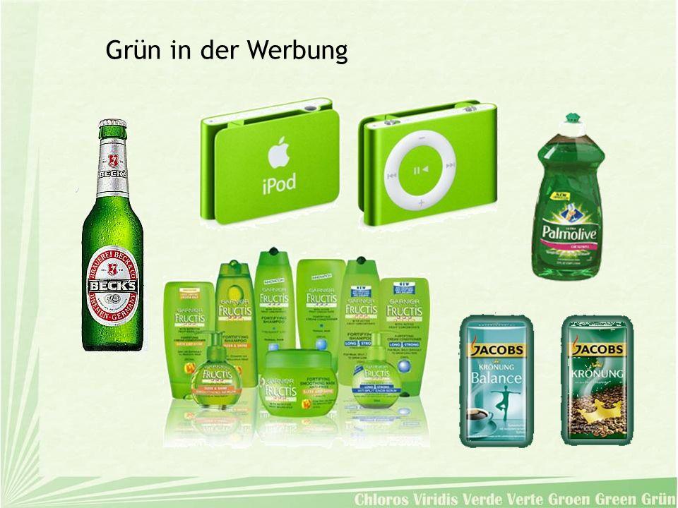 Grün in der Werbung