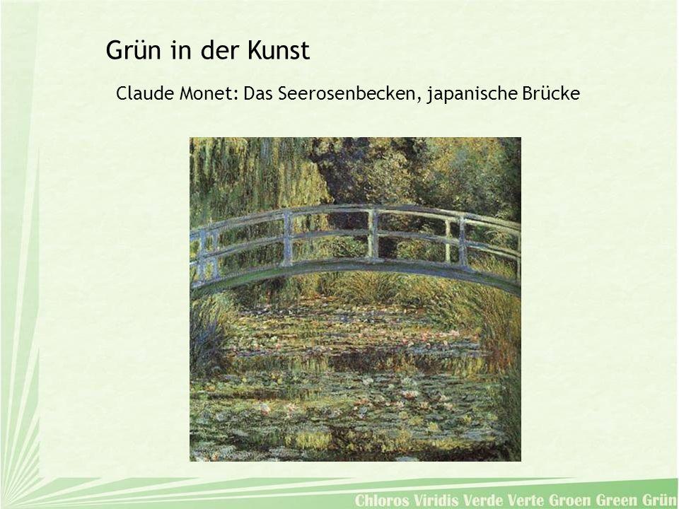 Claude Monet: Das Seerosenbecken, japanische Brücke Grün in der Kunst