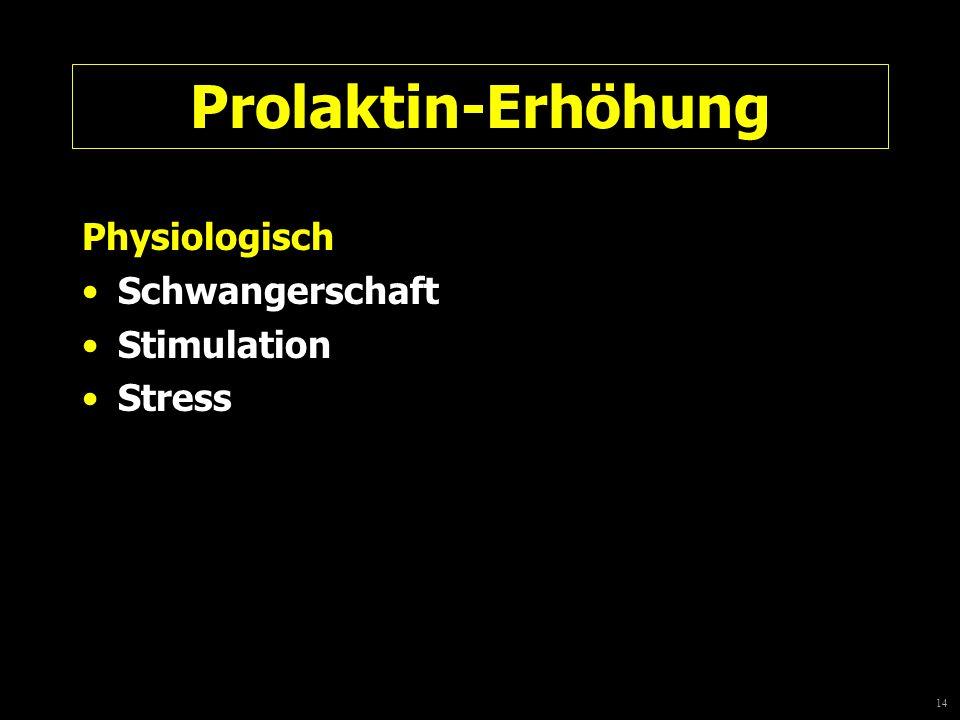 14 Prolaktin-Erhöhung Physiologisch Schwangerschaft Stimulation Stress