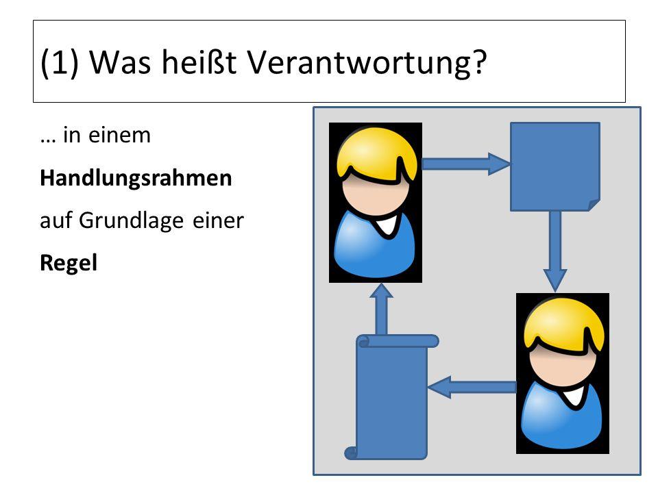 (5) Verantwortung als Grundlage der Ethik aus der Erfahrung des Dritten Reichs Gehorsam wird heute durch Verantwortung ersetzt.