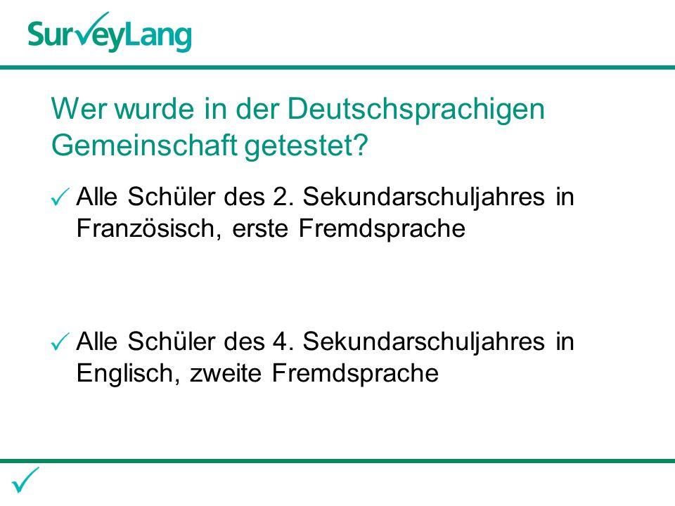 Wer wurde in der Deutschsprachigen Gemeinschaft getestet.