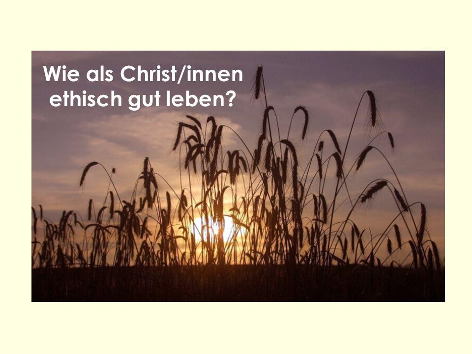 Wie als Christ/innen ethisch gut leben?